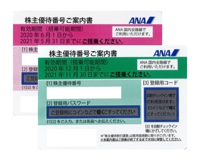 ANA(全日空)株主優待券の買取やご売却