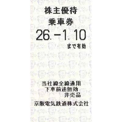 京阪電鉄株主優待券の高価買取