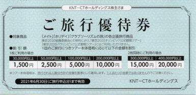 KNT-CT 近畿日本ツーリスト株主優待券