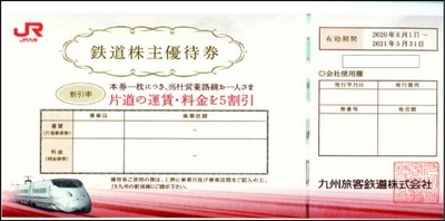 JR九州株主優待券