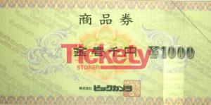 ビックカメラ商品券 1,000円
