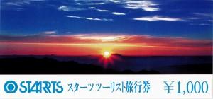 スターツツーリスト旅行券 1,000円