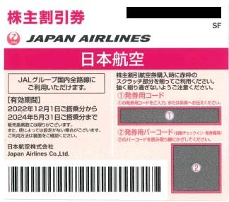 JAL株主優待券(2020年12月1日~2022年5月31日有効) ネイビー