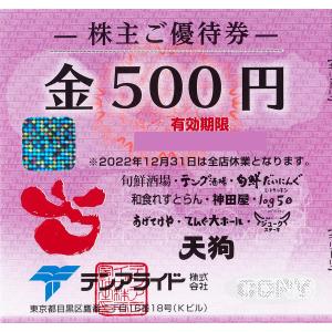 テンアライド (天狗) 株主優待券 500円