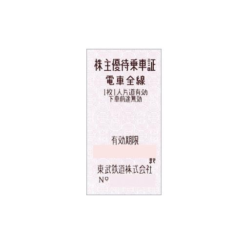 東武鉄道 株主優待乗車証(有効期限6月末迄)
