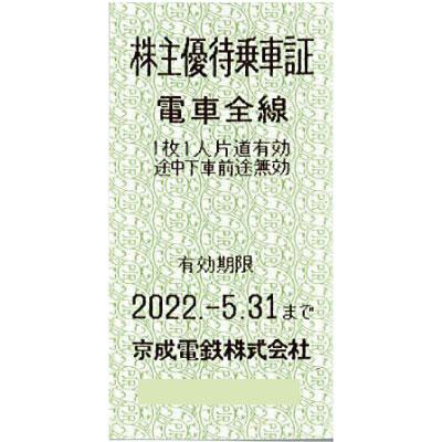 京成電鉄 株主優待乗車証(有効期限5月末迄)