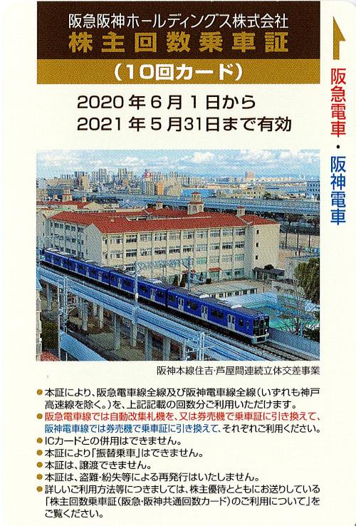 阪急阪神ホールディングス 株主優待カード10回