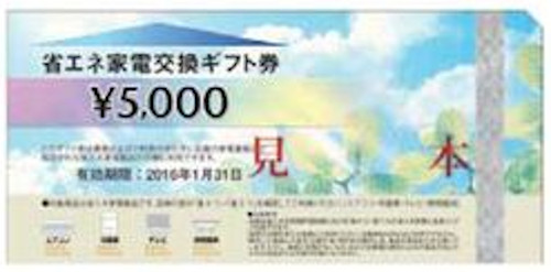 省エネ家電ギフト 5,000円