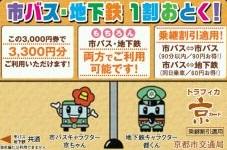トラフィカ京カード 3,000円