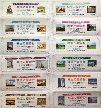 スターツコーポレーション 株主優待券 (12種 12枚綴) 1冊