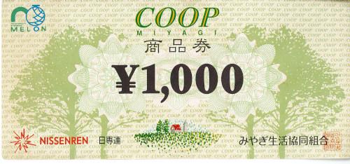 日専連MELON商品券(宮城限定) 1,000円