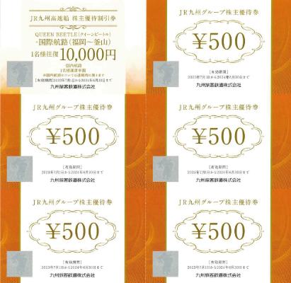 JR九州グループ 優待割引券冊子 6枚綴り