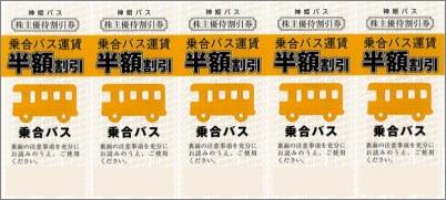 神姫バス 株主優待券 5枚綴 (乗合バス運賃半額)