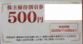 ゲオホールディングス 株主優待券 500円