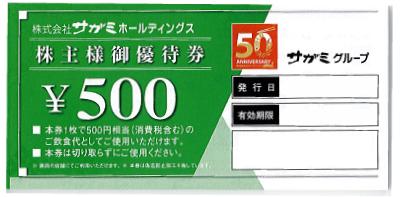 サガミホールディングス 株主優待 500円×40枚綴り