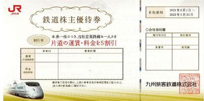 JR九州株主優待券(2021年6月1日~2022年5月31日)