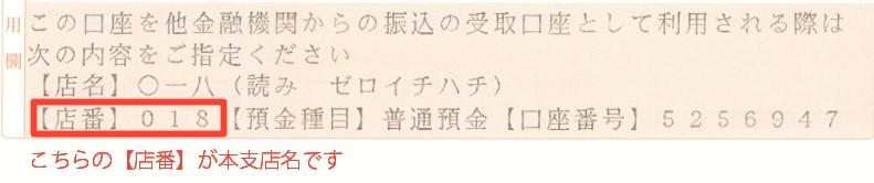 ゆうちょ銀行支店名
